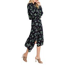 Lush Womens Floral Midi Skirt