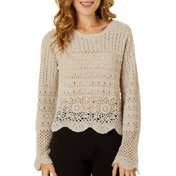 Willow & Clay Womens Solid Knit Long Sleeve Sweater