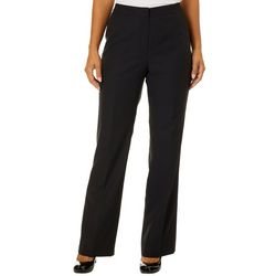 Womens Solid Crepe Pants