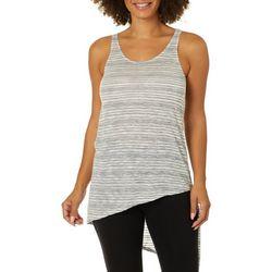 Chenault Womens Striped Asymmetrical Hem Sleeveless Top