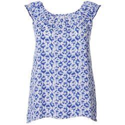 Womens Tile Print Sleeveless Top
