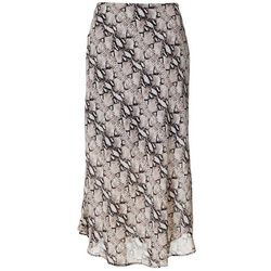 Spense Womens Snakeskin Print Lined Skirt