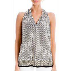 Max Studio Womens Geometric Print Sleeveless Top