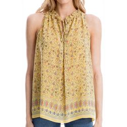 Max Studio Womens Ditzy Daisy Print Sleeveless Top