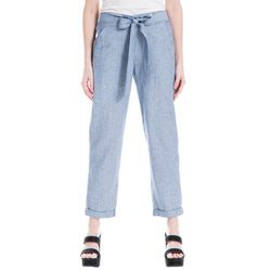 Max Studio Womens Stripe Linen Pants