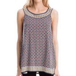 Max Studio Womens Printed Jersey Sleeveless Top