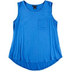 Nue Options Womens Solid Pocketed Tank Top