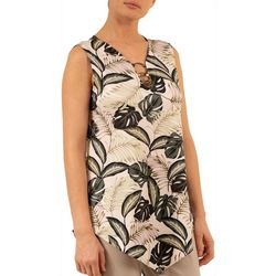Nue Options Womens 3 Ring Leafy Top