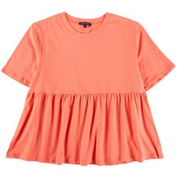 Knit And Cast Womens Babydoll Short Sleeve Top