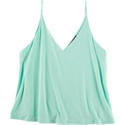 Fore Womens Solid Double Layer Tank Top