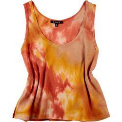 Fore Womens Tie Dye Waffle Knit Tank