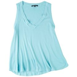 Fore Womens Solid Waffle Knit Tank Top
