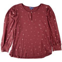 Womens Blouson 3/4 Sleeve Top