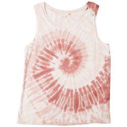 C & C California Womens Spiral Tie-Dye  Tank Top