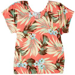 Cha Cha Vente Womens Leaves Fitted Top