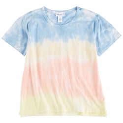 For The Republic Womens Tie Dye Short Sleeve Top