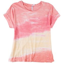 CG Sport Womens Tie Dye Short Sleeve Top