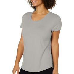 Femme Womens Solid Round Neck T-Shirt