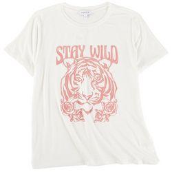 Gilli Womens Tiger Short Sleeve Top