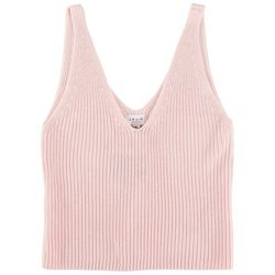Le Lis Womens Ribbed Solid Tank Top