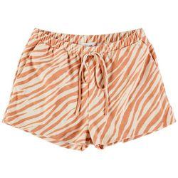Le Lis Womens Zebra Print Shorts