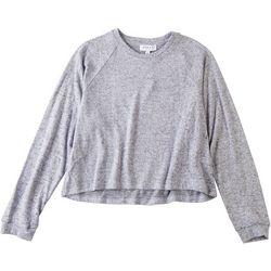 Gilli Womens Brushed Raglan Long Sleeve Top