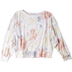 Gilli Womens Bright Tie-Dye Long Sleeve Top