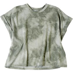 Gilli Womens Tie Dye Short Sleeve Top