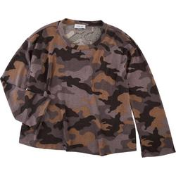 Gilli Womens Camouflage Long Crew Neck Sweater