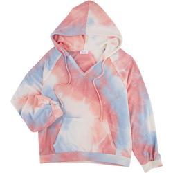 Womens Tie Dye Drawstring Hoodie