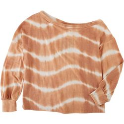 Le Lis Womens Tie Dye Slouched Long Sleeve Top