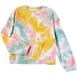 Womens Tie Dye Crew Neck Sweater