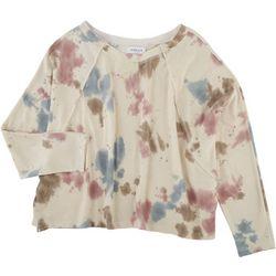 Gilli Womens Tye Dye Long Sleeve Top