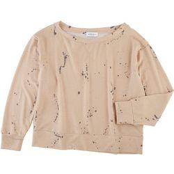 Gilli Womens Paint Splatter Long Sleeve Top