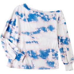 Gilli Womens Tie Dye Off The Shoulder Jacket