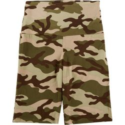 Le Lis Womens Camouflage Biker Shorts