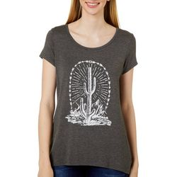 VS Collection Womens Jewel Embellished Cactus Top