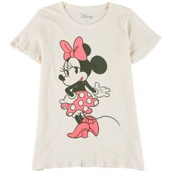 Chaser Womens Disney Minnie Mouse Short Sleeve Top