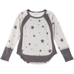 Jack + Avery Juniors Long Sleeve Star Color Block Sweater