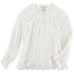 American Rag Womens Lacey Peasant Long Sleeve Shirt