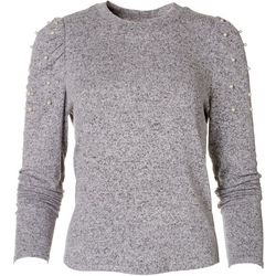 American Rag Womens Embellished Long Sleeve Top