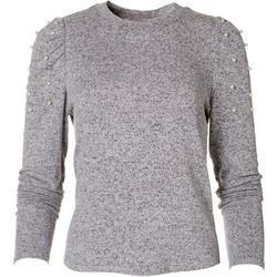 Womens Embellished Long Sleeve Top
