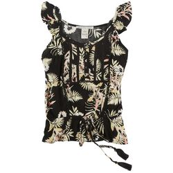 American Rag Womens Sleevless Ruffle Top