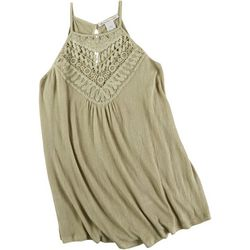 American Rag Womens Solid Lacey Halter Top