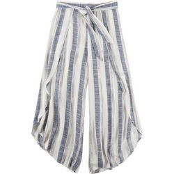 American Rag Womens Tie Waist Striped Pants