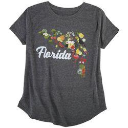 Ana Cabana Womens Florida Print T-Shirt