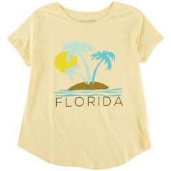 Ana Cabana Womens Florida Printed Short Sleeve T-Shirt