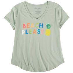 Ana Cabana Womens Beach Please Short Sleeve T-Shirt
