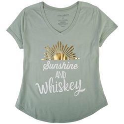 Ana Cabana Womens Sunshine And Whiskey T-Shirt