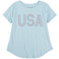 Ana Cabana Womens USA Printed Short Sleeve Top
